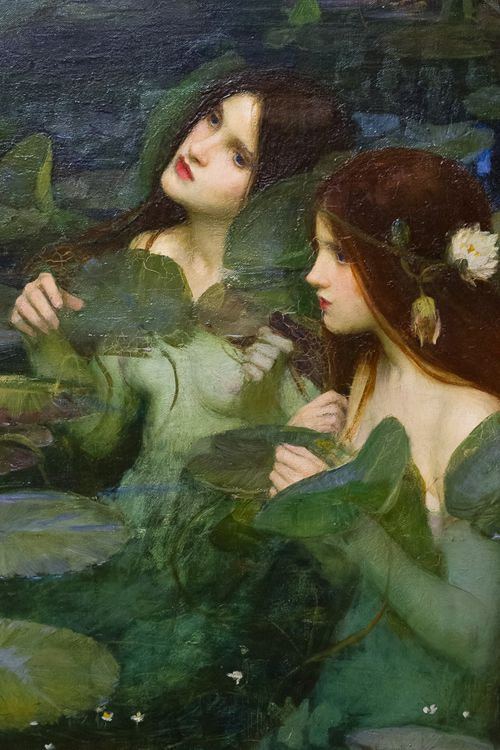 """Hylas and the nymphs"" (detail, oil on canvas) by John William Waterhouse, 1896."