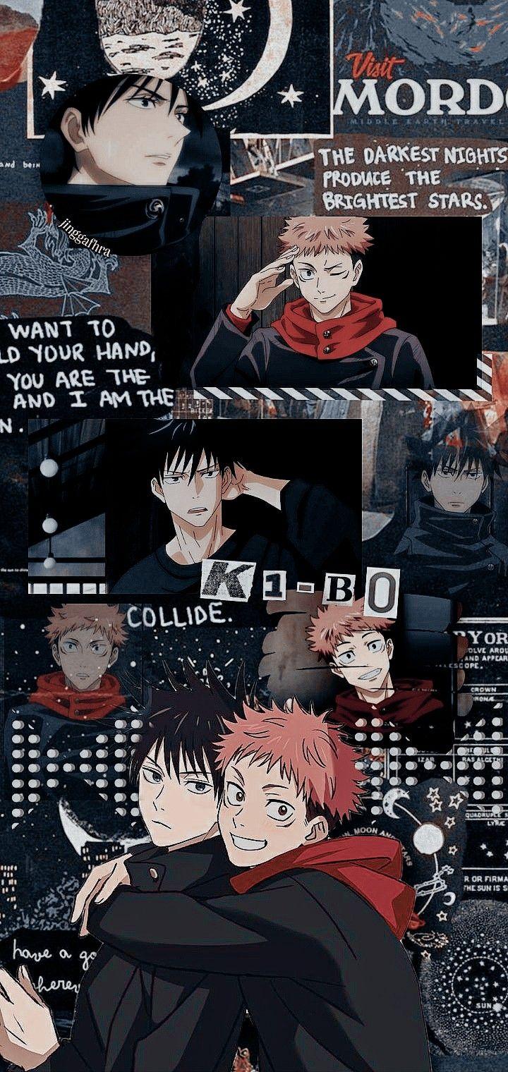 Jujutsu Kaisen Locksrcreen Itadori Yuuji X Fushiguro Megumi Cute Anime Wallpaper Anime Wallpaper Phone Cool Anime Wallpapers