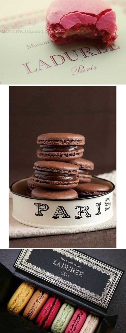 I know, there are a thousand pins of Laduree - but who can resist? Just looking at these is a treat and brings to mind days in France....paris paris paris