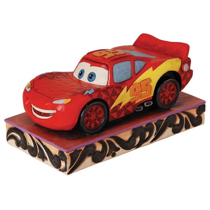 Jim Shore Ka-Chow - Lightning McQueen Figurine (Disney Tradition)