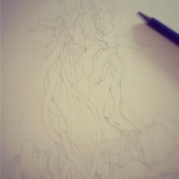 Work in progress, early line drawing/defining. Lots to do! - @rafsarmento- #webstagram