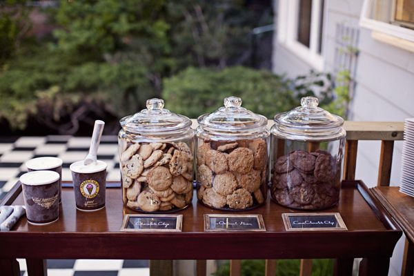 various cookies in glass jars for guests! from Shari + Mike