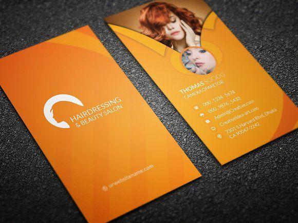 Hair Cut Business Card by Create Art on @creativemarket