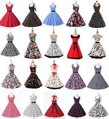 Ama De Casa Retro Vintage Años 50 De Los 40 Swing Floral Partido Pinup Rockabilly té Vestido