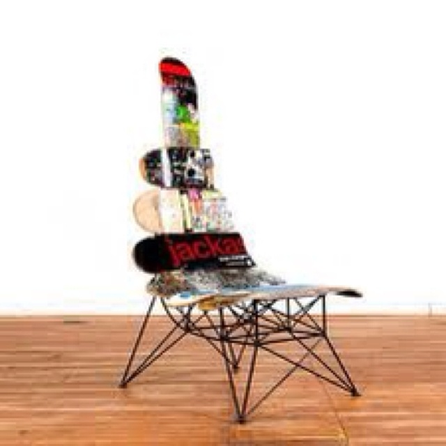 Furniture With Recycled Skateboards