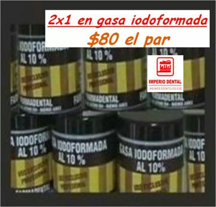 2x1 gasa idoformada, 2 cajas $80!!!!!!