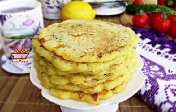 Clatite aperitiv cu dovlecel si branza | Rețete Merișor
