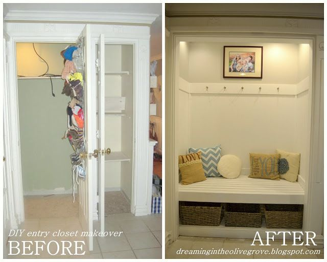 Small Foyer With Closet : Diy entryway closet makeover crafts pinterest