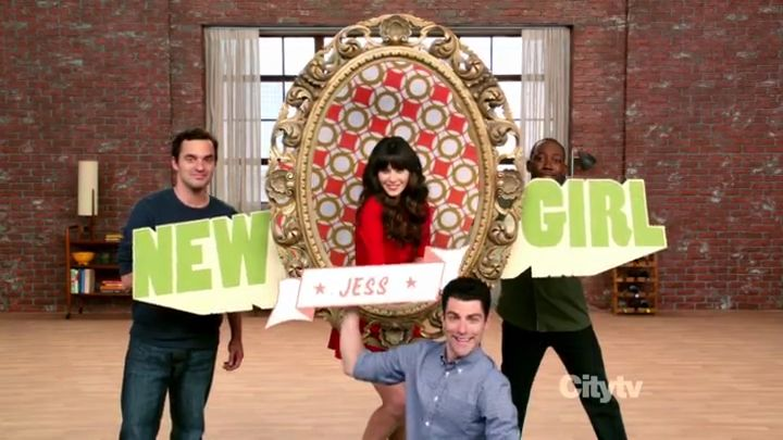 New Girl is an American television sitcom that premiered on Fox on September 20, 2011.[2] It stars Zooey Deschanel, Jake Johnson, Max Greenfield, Lamorne Morris and Hannah Simone. On September 28, 2011, after two episodes aired, Fox ordered an additional 11 episodes to the initial 13-episode order, bringing the first season to 24 episodes.: Girls, Series, Newgirl, It S Jess, Movies, New Girl, Things, Favorite