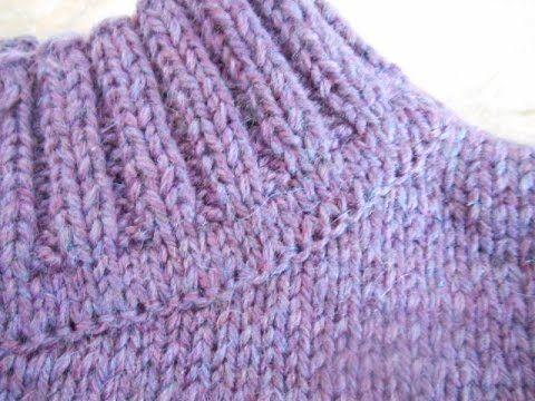 Как пришить воротник Кеттельный шов Вязаное пальто для девочки