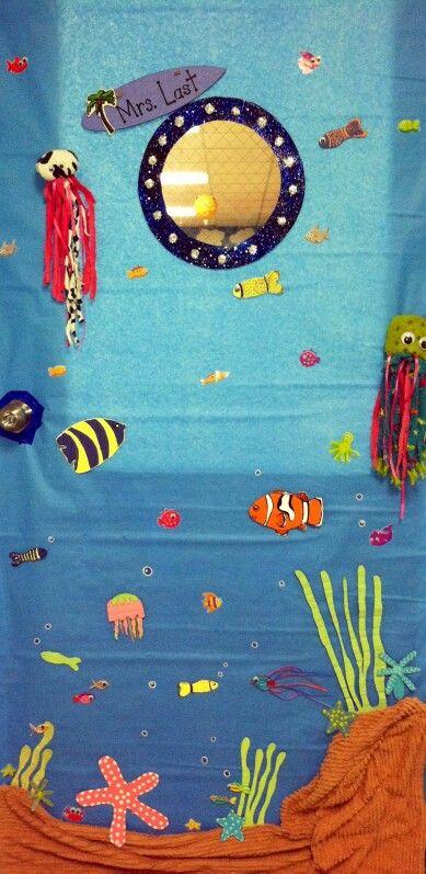 Ocean theme- Mrs. Last's door