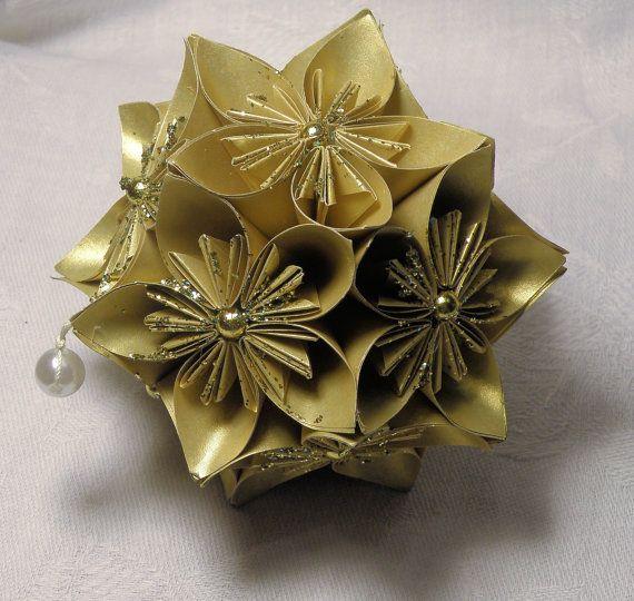 Hand made Christmas ornament origami