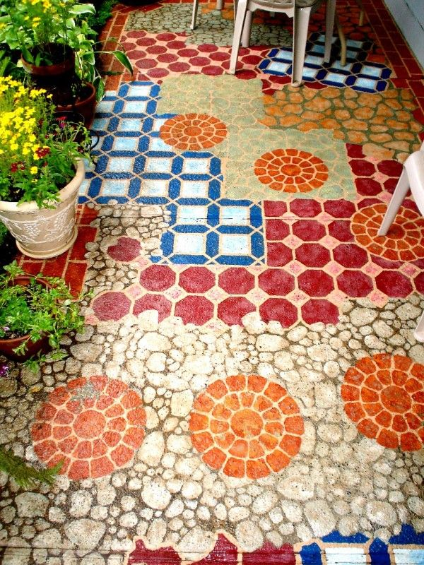 14 Amazing Painted Floors Painting Concrete Painted