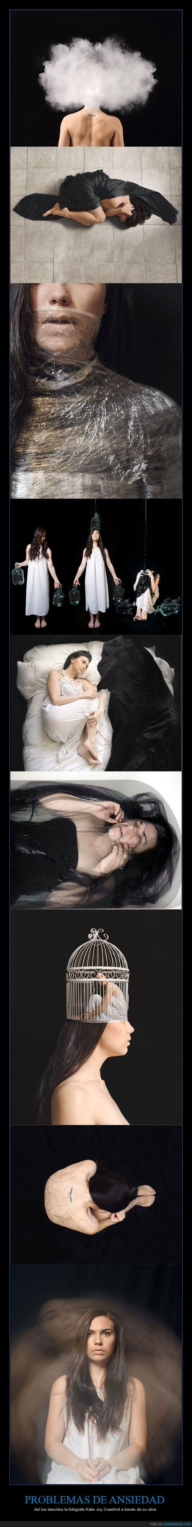 PROBLEMAS DE ANSIEDAD - Así los describe la fotógrafa Katie Joy Crawford a través de su obra