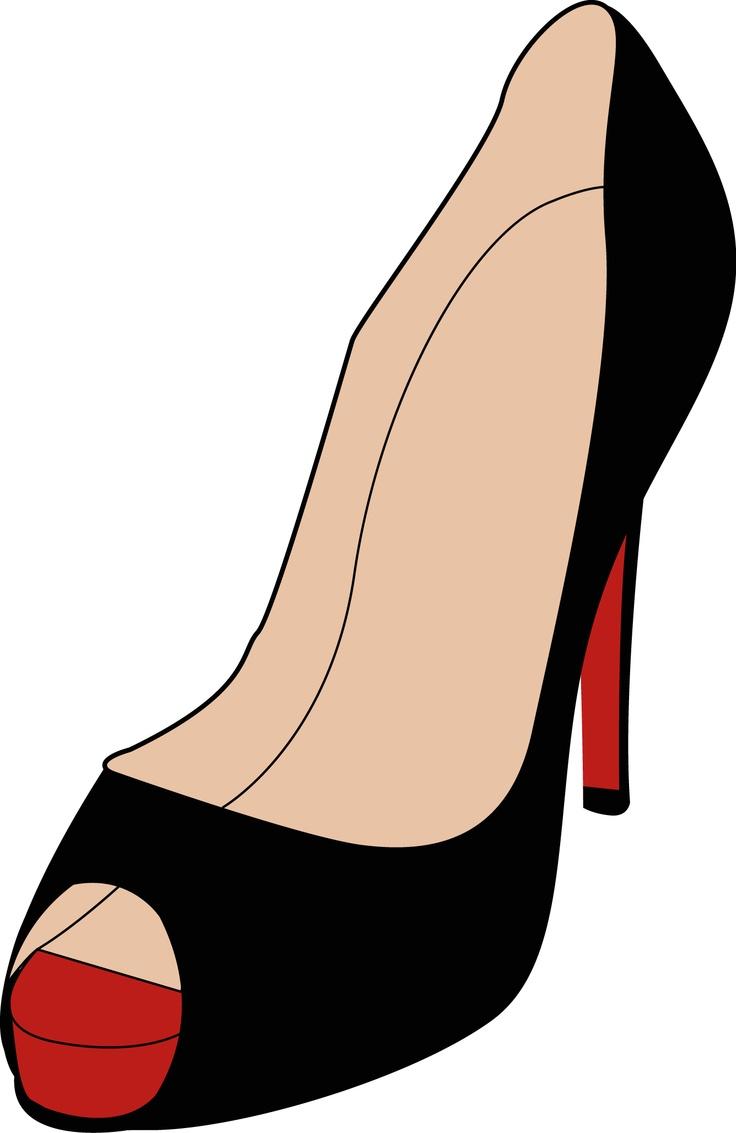 High fashion shoes sketch