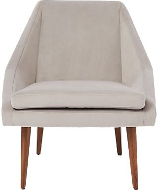 £299 west elm Parker Velvet Armchair in Dove Grey. Great #chair for a neutral #HomeDecor theme and would go perfectly with a #Gold Cushion | #Ad