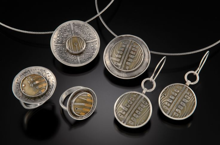 Jewelry by Leslie Perrino: Sterling and computer components