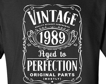 25th Birthday Gift For Men And Women Vintage 1989 Aged