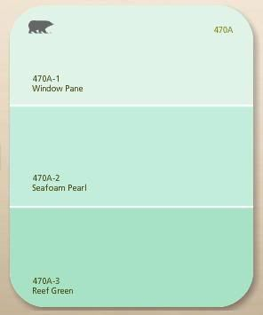 Paint Chip Window Pane Seafoam Pearl Reef Green By Behr Paint Home Depot Home Decor
