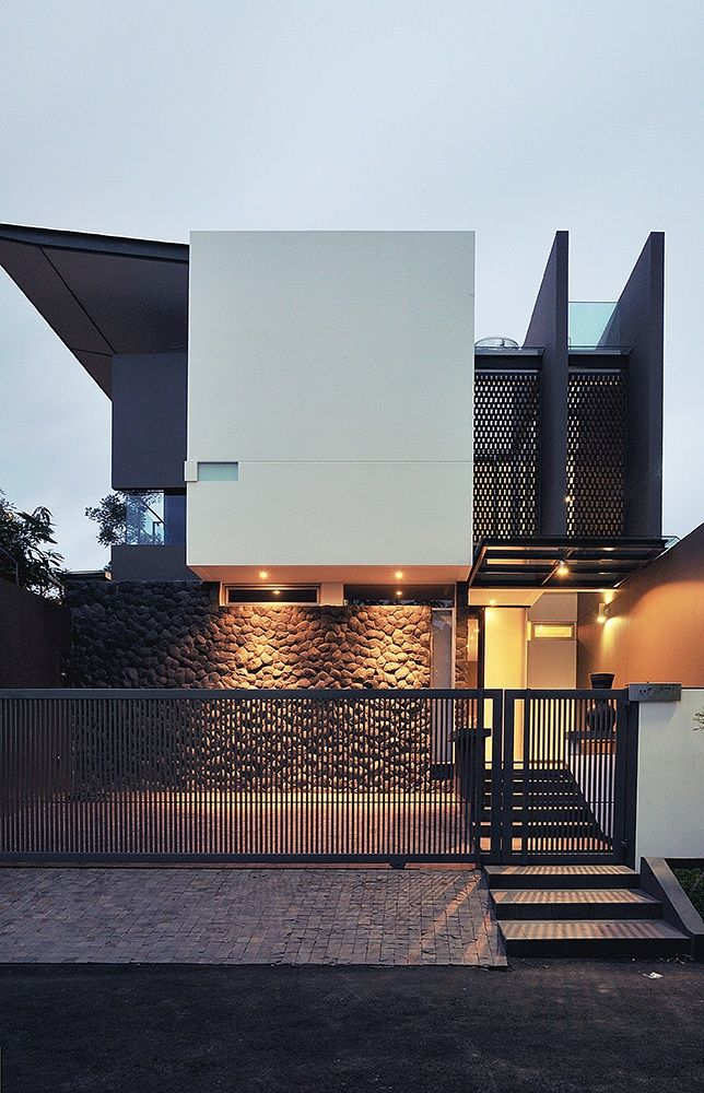 Urban House manipulates form and materials into this beautiful composition
