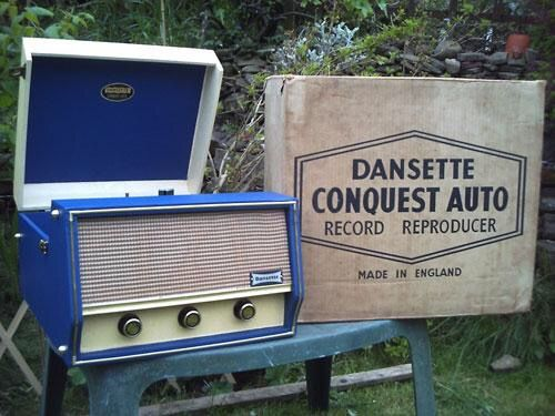 Blue Dansette record player