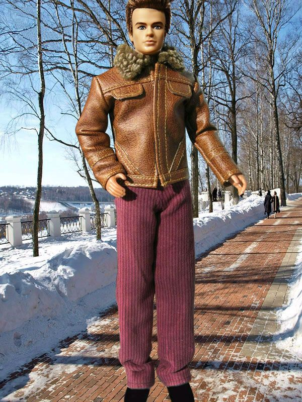 Barbie clothes - Ken leather jacket, Ken doll pants by MatyBor on Etsy https://www.etsy.com/listing/470929398/barbie-clothes-ken-leather-jacket-ken