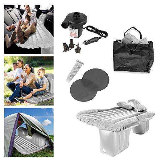 Mobil-Bett aufblasbar, Luft-Bett, Auto-Bett Reisebett Luft-Matratze inklusive elektrischer Pumpe und Kissen (Blau): Amazon.de: Sport & Freizeit