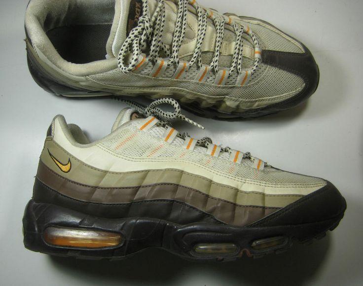 NIKE AIR MAX 95 Rich Brown Cream Orange Leather Running RARE #Nike  #RunningCrossTraining