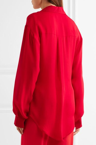 Juan Carlos Obando - Silk Crepe De Chine Shirt - Red - US10