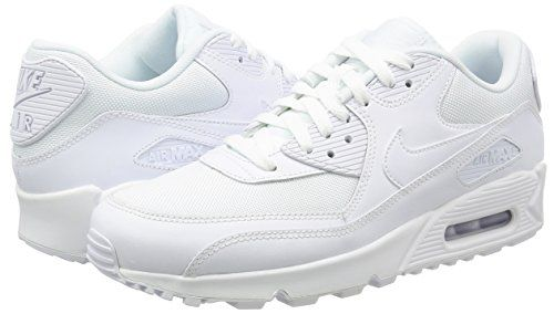 online store 7f1cb a3463 Nike Men s Air Max 90 Essential Sneakers, Blanco (White   White-White-