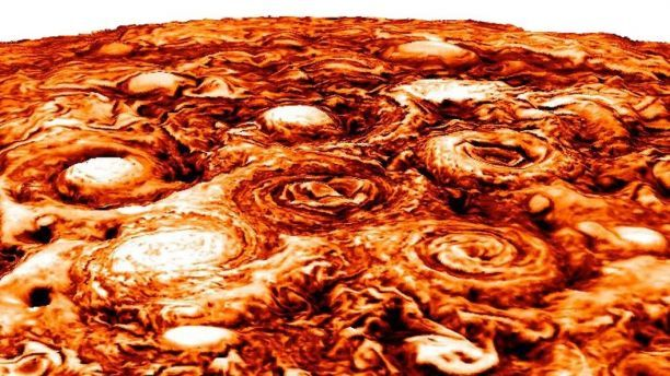 NASA releases 'unearthly' pictures of Jupiter, showing 9 massive cyclones with Category 5 hurricane wind speeds | Fox News
