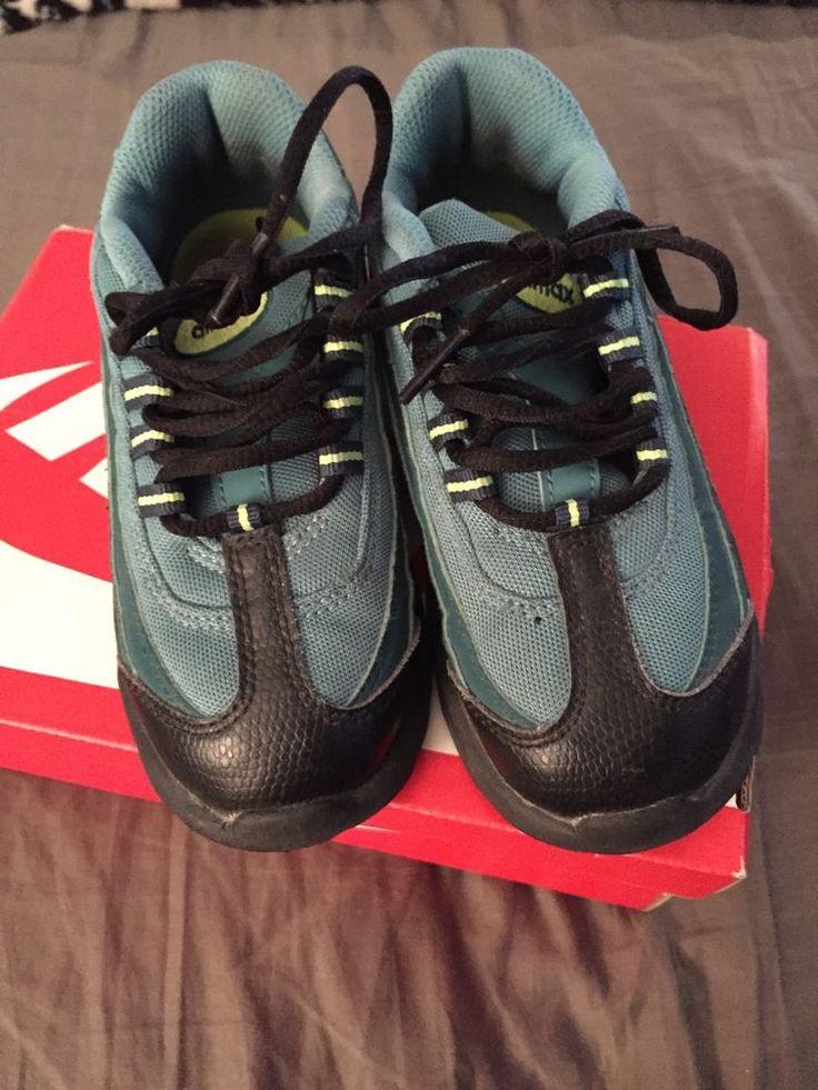 Nike Air Max 95 Black Dksea Mint Kids Sneakers 001666 Sz 10 Used with Box | eBay