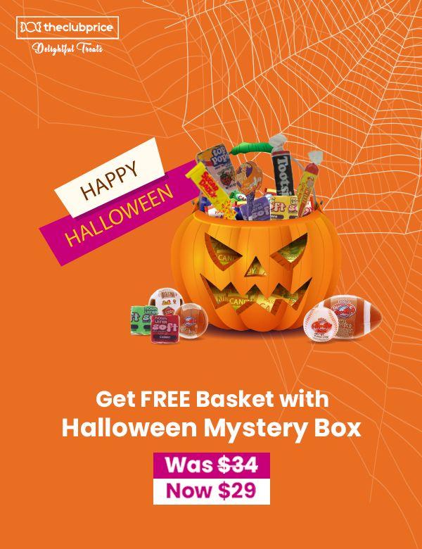 Halloween 2020 Thoh Mystery Box FREE Halloween Basket on order of Halloween Mystery Box