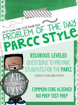 PARCC Math 4th grade by Third Grade Triumph | Teachers Pay Teachers