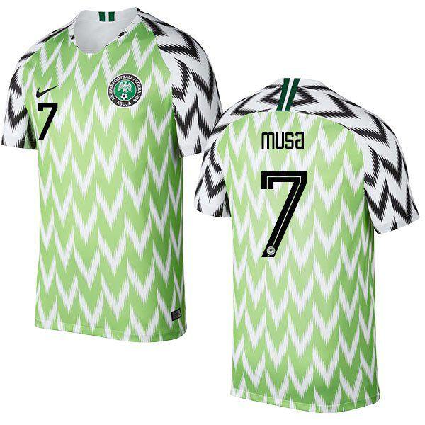new concept 0f013 7feb3 AHMED MUSA #7 Nigeria Team 2018-2019 Home Free Shipping ...