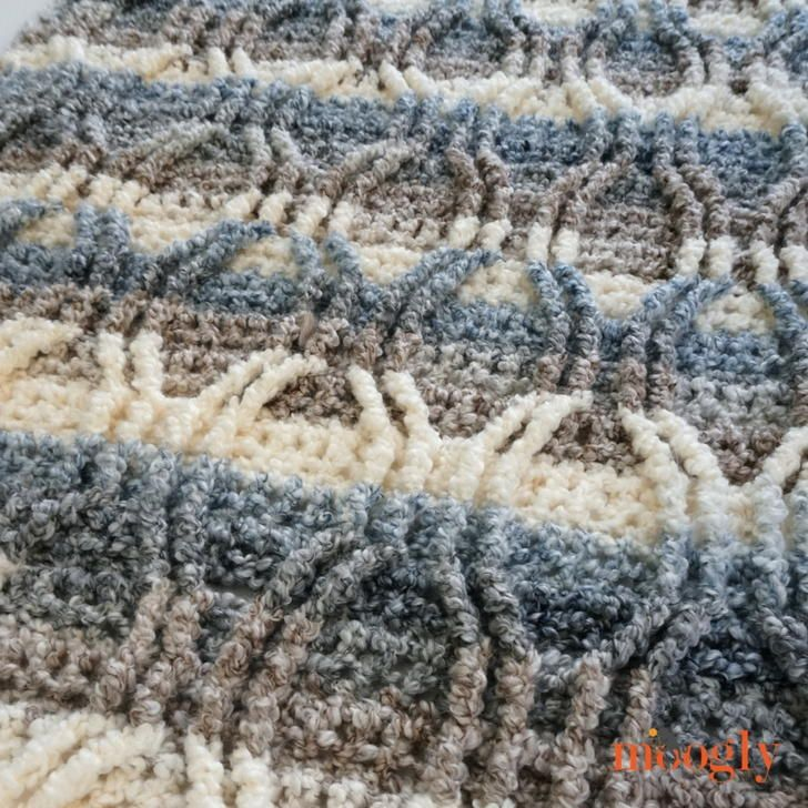 Austin Cables Throw free crochet pattern
