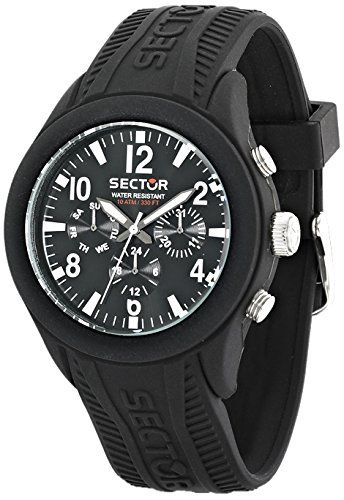 Men s Wrist Watches - Sector Mens Analog Display Quartz Black Watch     Visit the image link more details. 6cf8da2bb3b