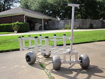 Cart made of pvc with balloon tires