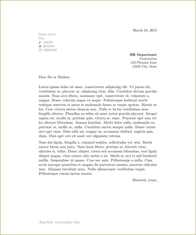 The 25+ best Latex letter template ideas on Pinterest Latex - cover letter sample for hr position