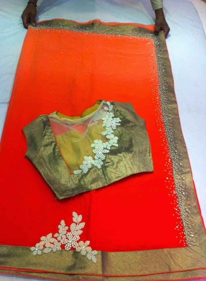 Latest Saree With Designer Blouse | buy online sarees | Elegant Fashion Wear