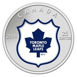 Royal Canadian Mint 2014 25c NHL Coin and Stamp Gift Set Toronto Maple Leafs $29.95 #coin #coins #hockey #nhl #toronto #torontomapleleafs #leafs #tml