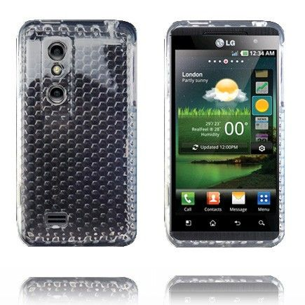 Diamant Soft Shell (Transparent Hvid) LG Optimus 3D Cover