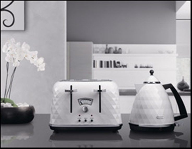 DeLonghi Brillante Kettle 1.7L White and matching toaster . I have these and love them.