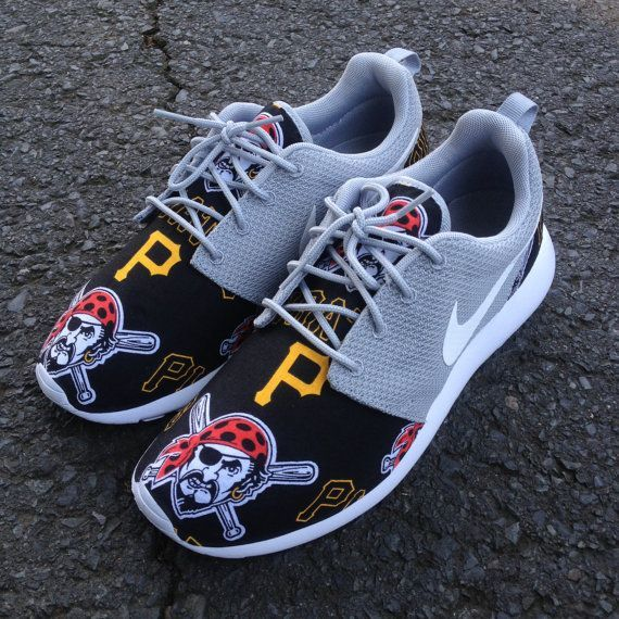 Custom Nike Roshe One Pittsburgh Pirates by customsxcario on Etsy