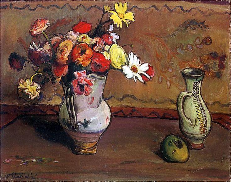 Władysław Ślewiński (Polish, 1856-1918) - Roses and chamomiles, c. 1908