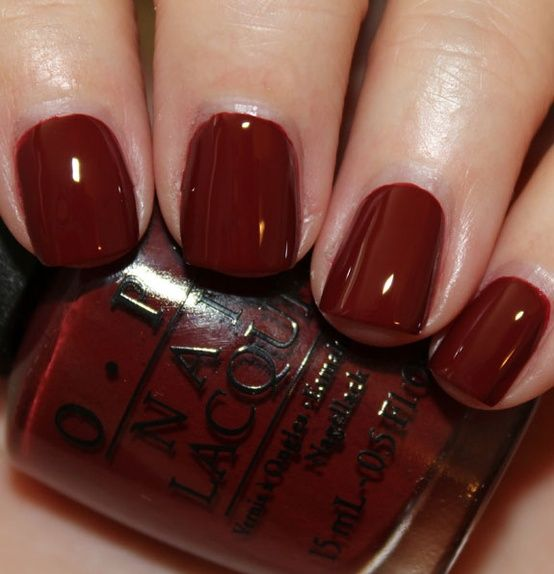 OPI Skyfall, the perfect red - love this color. I used it for the first time in November and have not used any other color since! Love!!