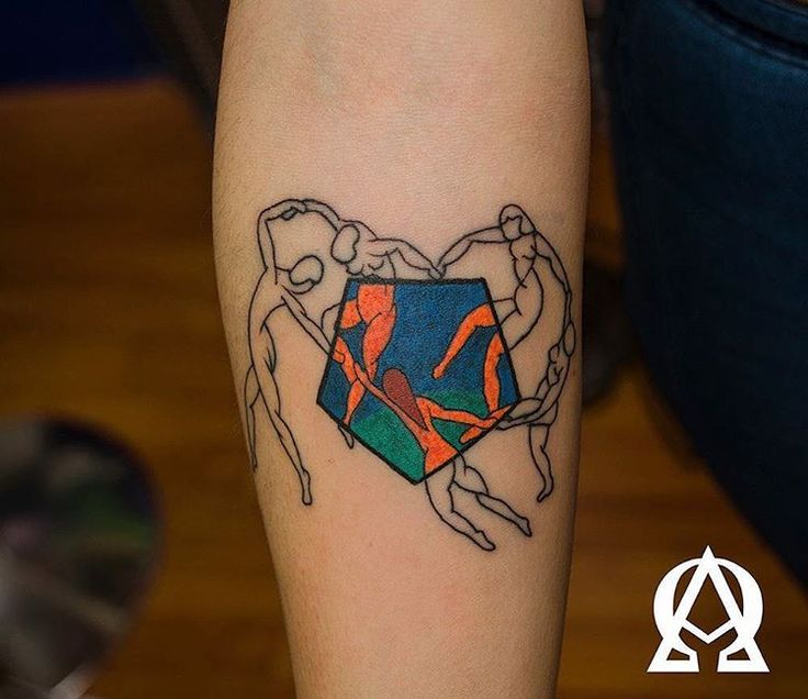 Modern tattoos inspired by art history