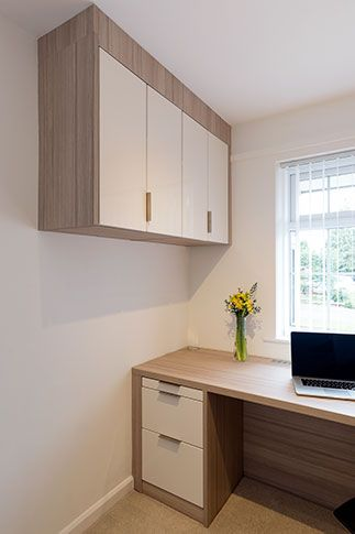 A Real Room With Hammonds Fitted Home Office Furniture Installed In A Happy  Customeru0027s Home. The Range Is Vigo Iu2026 | Floor To Ceiling Fitted Home Office  In ...