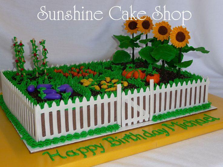 Garden Sheet Cake Birthday Photos