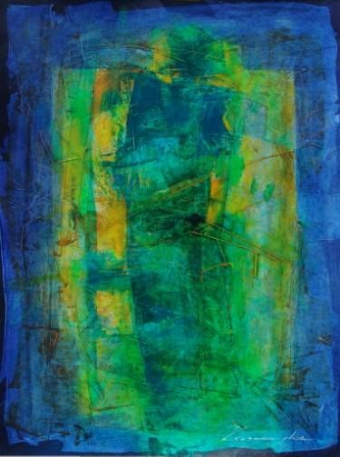 """Saatchi Art Artist Antoni Karwowski; Painting, """"Green figure"""" #art"""
